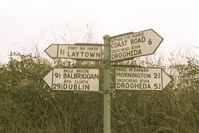 Bettystown: Road Sign