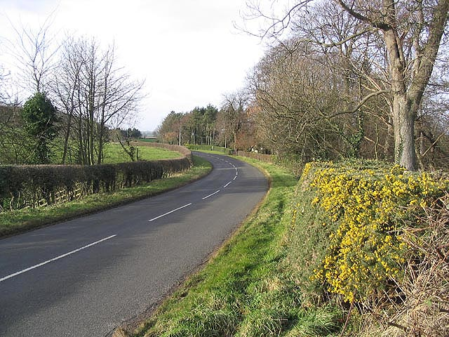 The B6353 near Kyloe Cottage