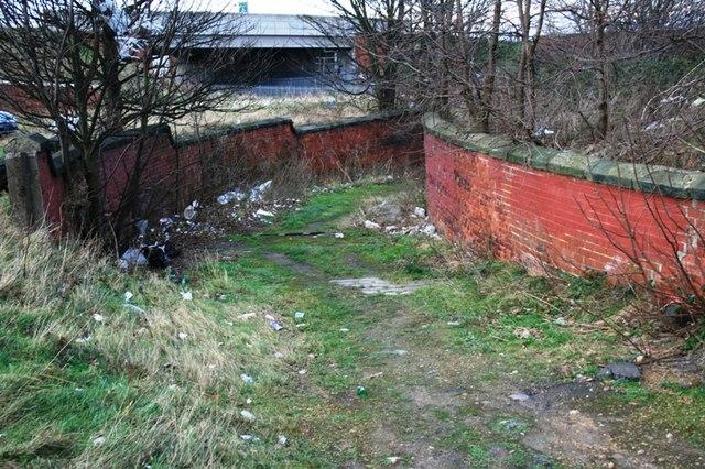 Disused Underpass Under Railway