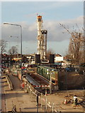 TQ2081 : Replacing A40 railway bridge (Perryn Road Bridge) by David Hawgood