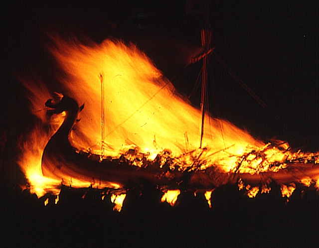 Up Helly Aa (7) - the Burning Galley