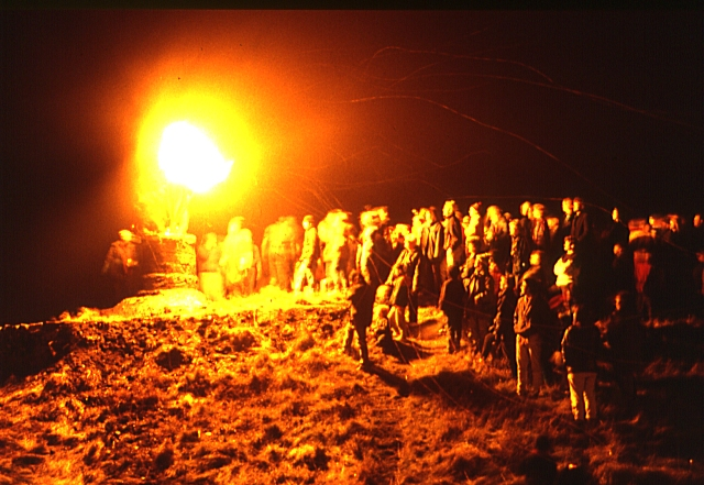 Burning of the Clavie (3) - Doorie Hill