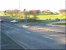 NZ4249 : Roundabout on New Strangford Road, Seaham by Oliver Dixon
