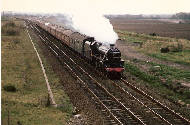 Preserved steam excursion northbound at Catholme