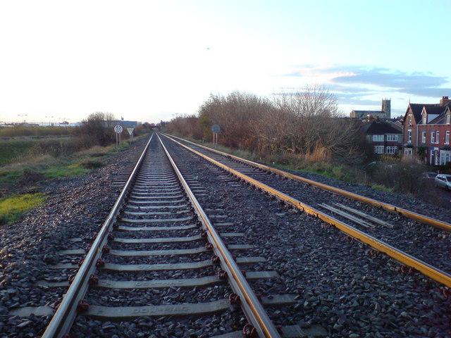 Railway lines near Powlett Road