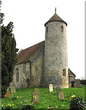 TG1508 : St Mary & St Walstan, Bawburgh, Norfolk by John Salmon