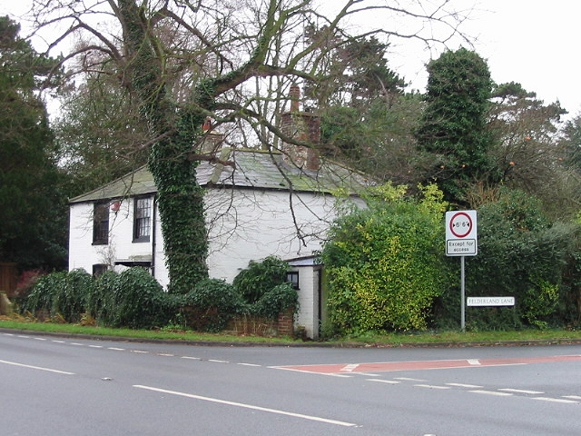 Junction of Felderland Lane with Deal Road.