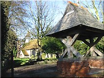 TR3254 : Ham church and lych gate. by Nick Smith