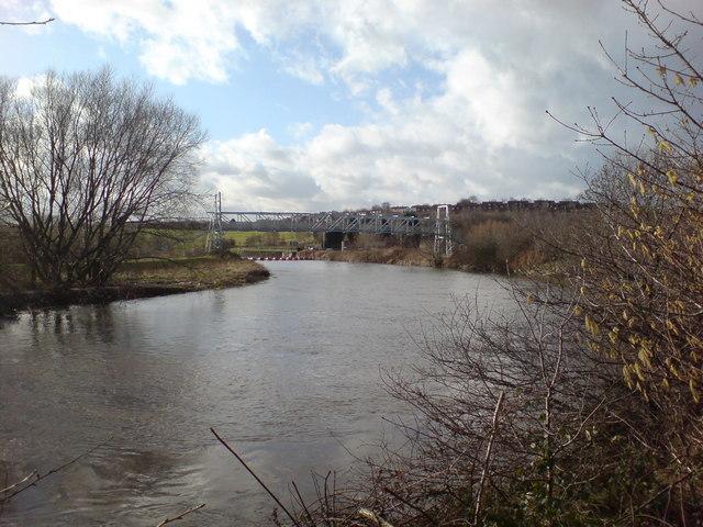 Footbridge over the River Calder