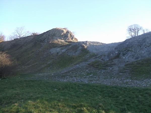 Limestone outcrop at Wren's Nest