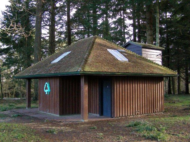 Public toilets at Bolderwood car park, New Forest