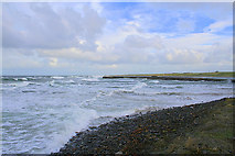 NJ9367 : Breakwater at Port Rae. by Des Colhoun