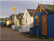 SZ1891 : More beach huts on Mudeford Spit by Jim Champion