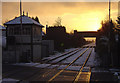 SK6745 : Lowdham Crossing at Sunset by Alan Murray-Rust