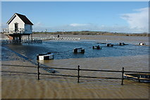 SO8832 : A flooded Severn Ham, Tewkesbury by Philip Halling