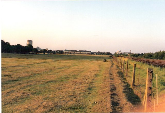 Branston pasture and Burton skyline