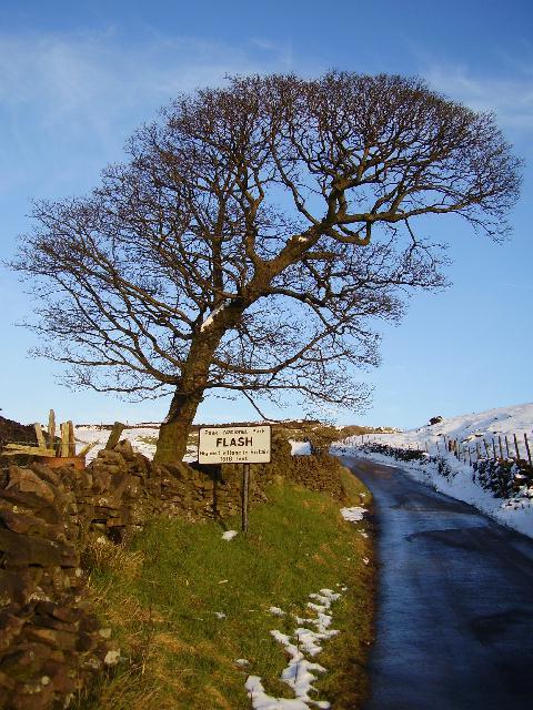 Entering Flash highest village in Britain 1518ft