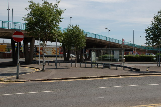 The Station Street/Bridge End flyover, Belfast