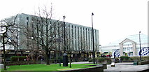 NS2776 : Clyde Square and Central Library by Thomas Nugent