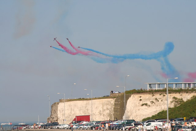 Red Arrows over Margate Harbour