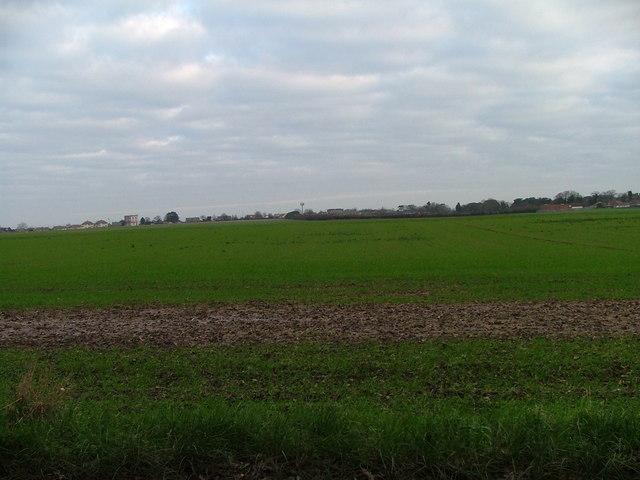 open field to the rear of school