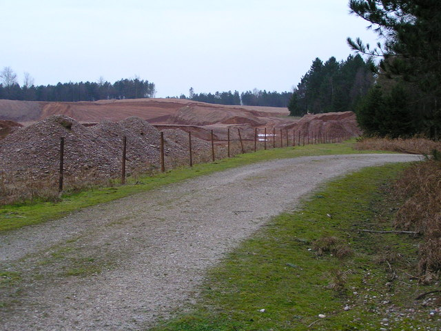 Quarry extensions at Warren Hill, Cannock Chase