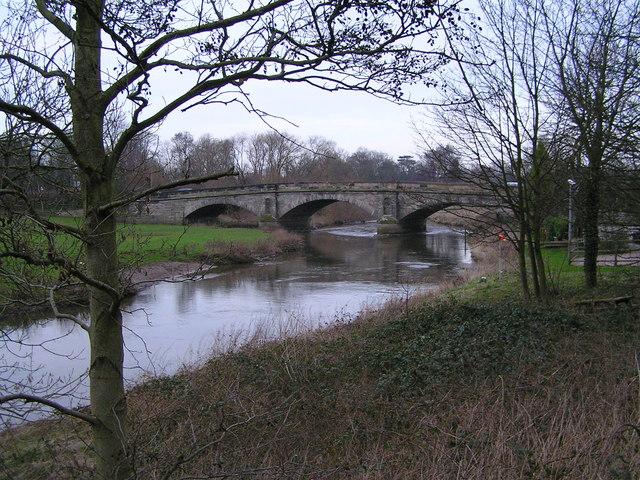 River Trent approaching Wolseley Bridge looking North East