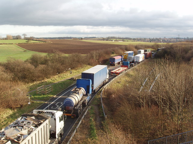 Lay-by off the A1, near Clifford