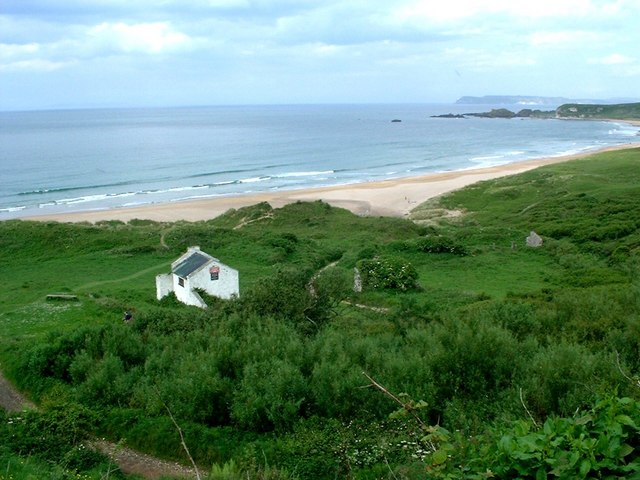 Former Youth Hostel at White Park Bay.