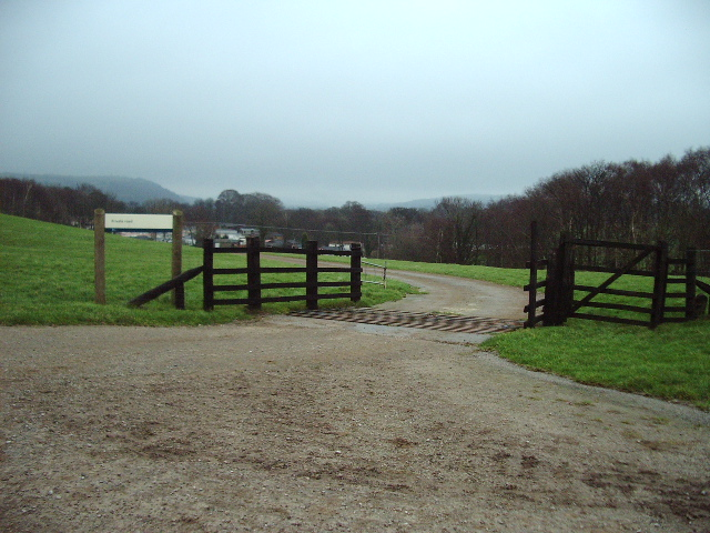 Entrance to caravan park
