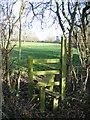 SJ4459 : Stile behind Lea Newbold Farm by John S Turner