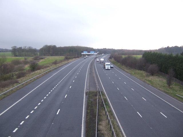 M180 west towards junction 4
