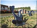 NZ3266 : Art at the Tyne Tunnel Pedestrian Entrance by Chris Heaton