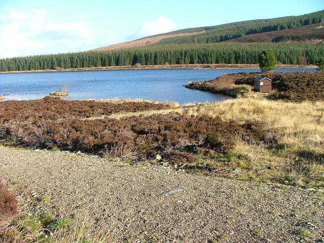 Fishing Hut on Loch Kinardochy