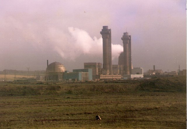 A nuclear processing plant.