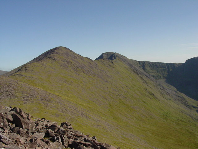 The ridge north west from Beenkeragh