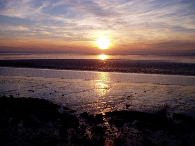 Sunset over the Severn estuary