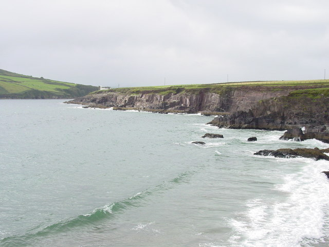 Cliffs which guard the eastern side at the mouth of Dingle Harbour