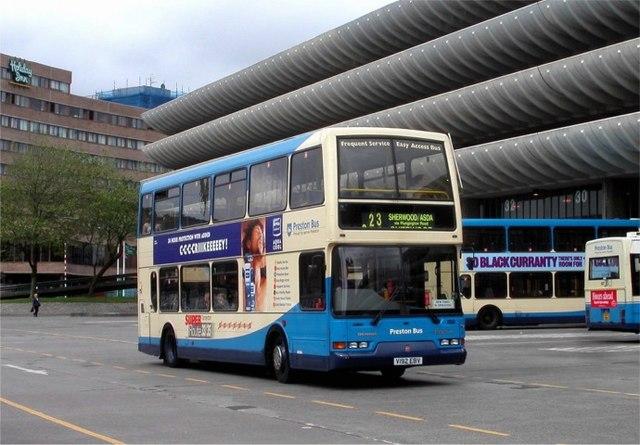 Leaving Preston bus station