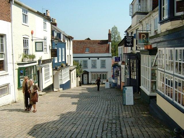 Looking towards Quay Street, Lymington