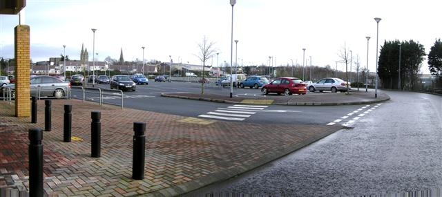 Great Northern Retail Carpark, Omagh by Kenneth  Allen