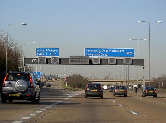 Motorway Gantry over M25