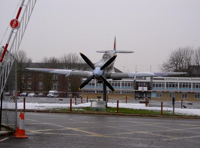 Spitfire at RAF Uxbridge