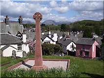 SD3598 : View over village from Hawkshead Church by John Charlton
