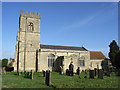 SP7433 : St Mary's, Thornborough by Andrew Smith