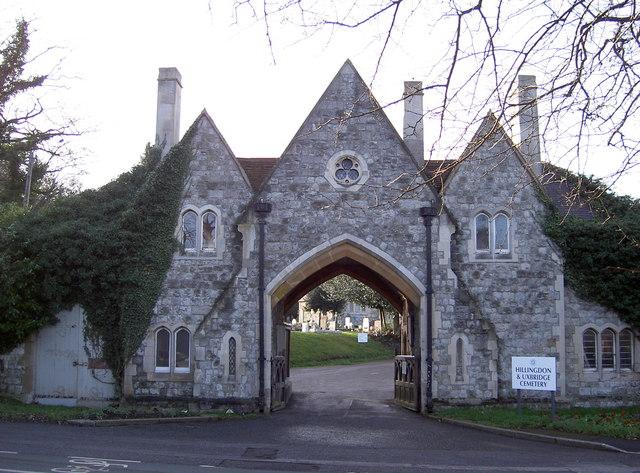 Gatehouse entrance into cemetery