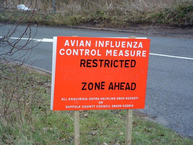 Avian Influenza ( Bird Flu ) Sign