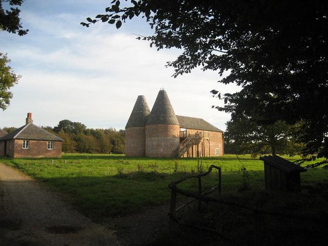 Oast House at Yonsea Farm, Rare Breeds Centre, Woodchurch, Kent