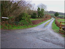 SX4668 : Farmroad to Higher Gawton. by John Poyser