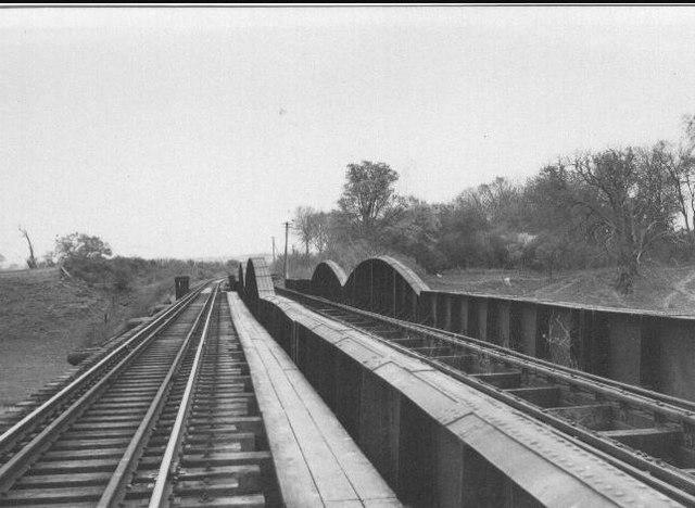 Railway Bridge across river Severn (1954, now dismantled)